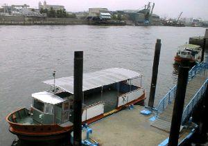 落合下渡船場の船