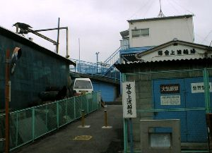 落合上渡船場入口の風景