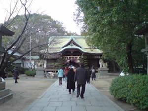 2008年元旦の泉尾神社
