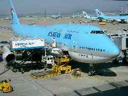 ソウル空港の飛行機